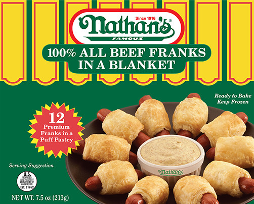 100% All Beef Franks in a Blanket